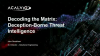 Decoding the Matrix: Deception-Borne Threat Intelligence