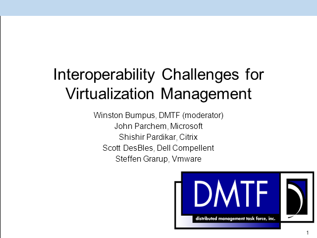 Interoperability Challenges for Virtualization Management
