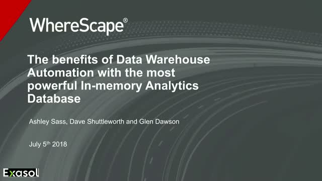 The path to an automated data warehouse built on Exasol's in-memory database