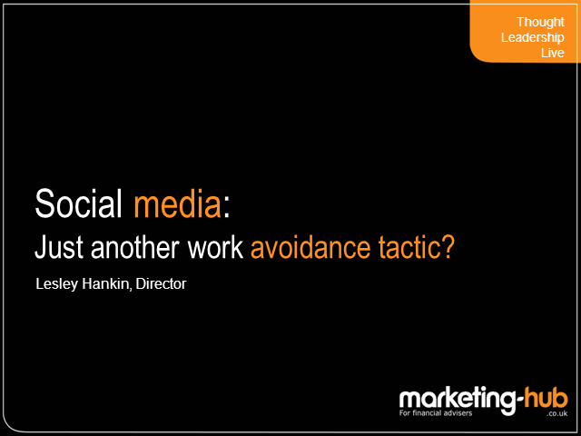 Social Media: Just Another Work Avoidance Tactic?