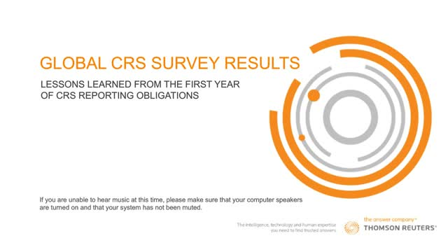 Global CRS Survey Results: Lessons learned from the first year of CRS reporting