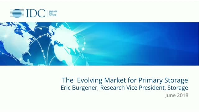 The Evolving Market for Primary Storage