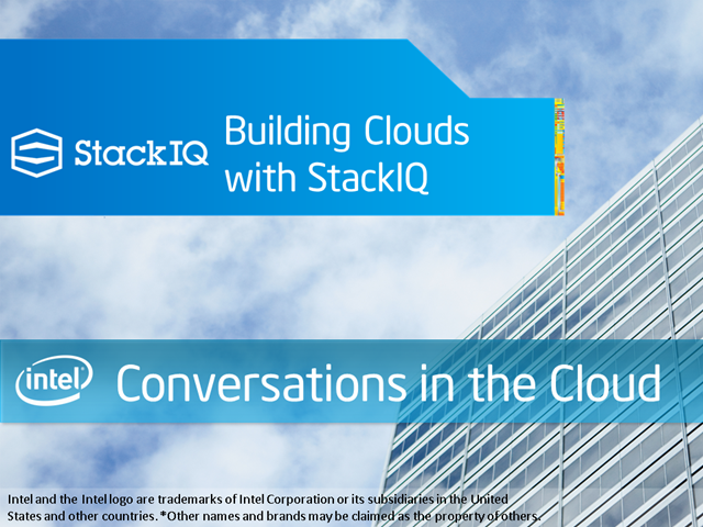 Building Clouds with StackIQ