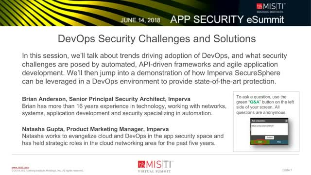 DevOps Security Challenges and Solutions