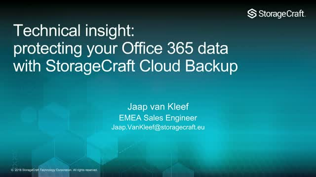 Technical insight: protecting your Office 365 or G Suite data with StorageCraft