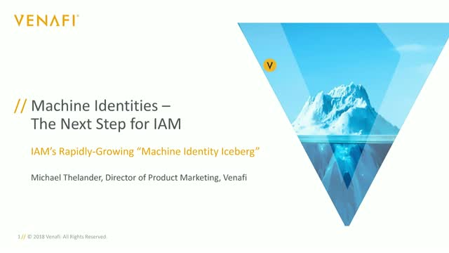 Machine Identities, The Next Step for IAM