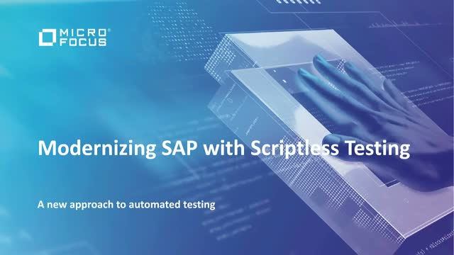 Modernizing SAP with scriptless testing