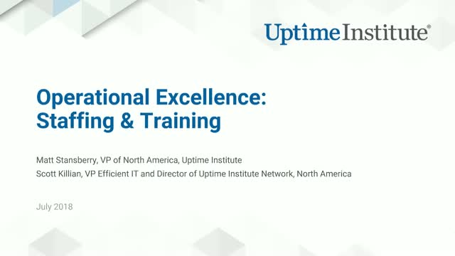 Data Center Operational Excellence: Staffing & Training