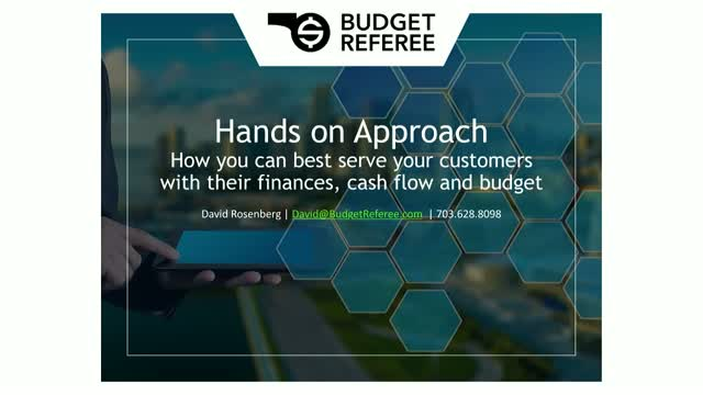 Hands On Approach - How you can best serve your customers with their finances