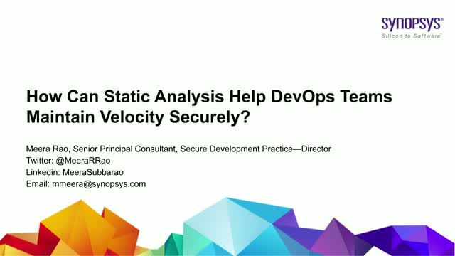 How can static analysis help DevOps teams maintain velocity securely?