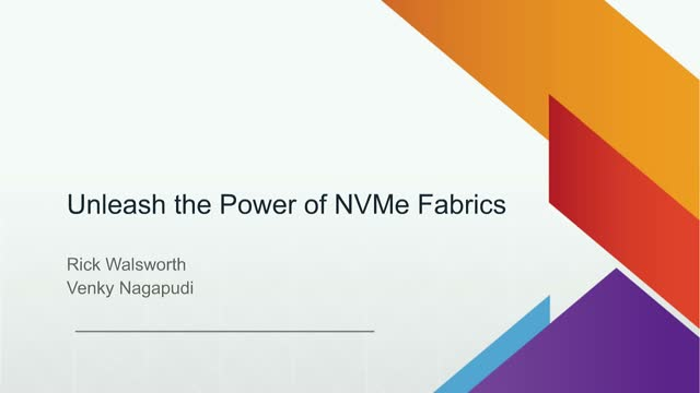 Unleash the Power of NVMe Fabrics