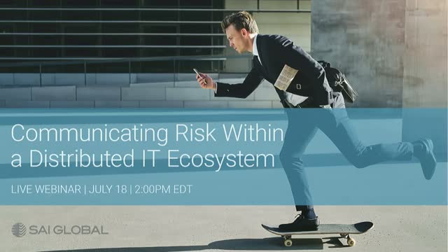 Communicating Risk Within a Distributed IT Ecosystem