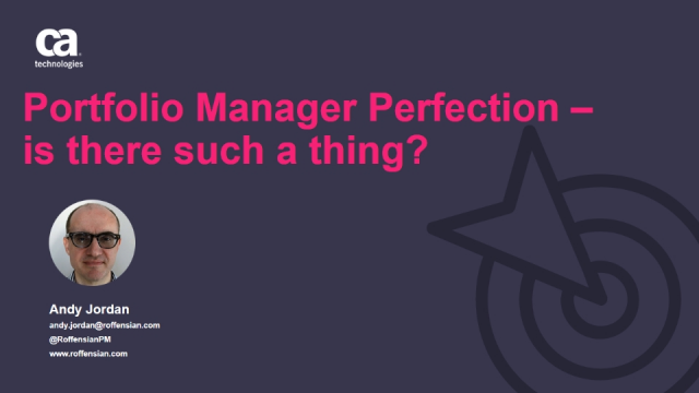 Portfolio Manager Perfection – is there such a thing?