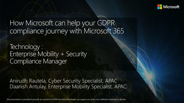 How Microsoft Can Help Your GDPR Compliance Journey