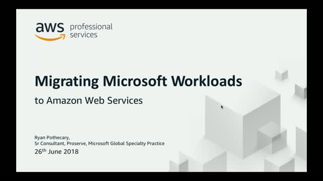 Migration of Microsoft Workloads to AWS
