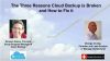 The Three Reasons Cloud Backup is Broken and How to Fix It