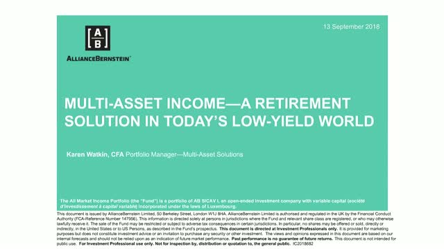 Multi-Asset Income: A Retirement Solution in Today's Low-Yield World