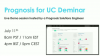 Prognosis for UC Deminar (July 2018)