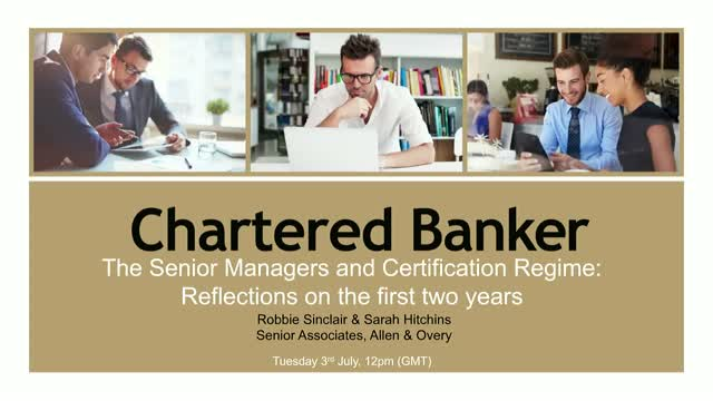 The Senior Managers and Certification Regime: Reflections on the first two years