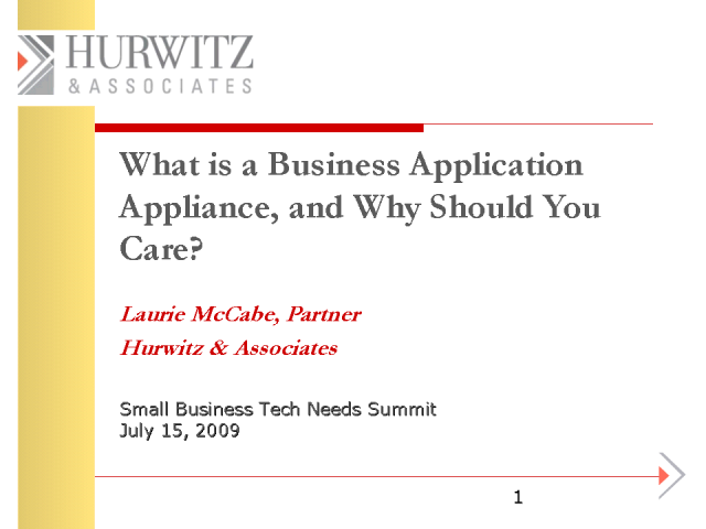 What is a Business Application Appliance and Why Should You Care?