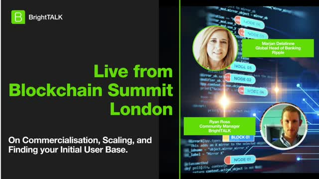 Live from Blockchain Summit London: Ripple's Marjan Delatinne