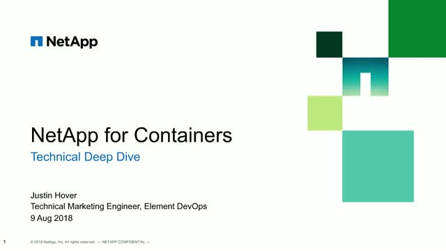 NetApp Presents: Dynamic Persistent Container Storage Provisioning with Trident