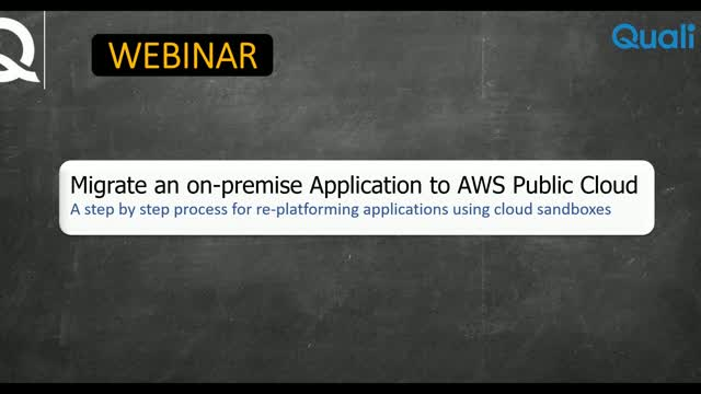 Webinar: Migrate an on-premise application to AWS Public