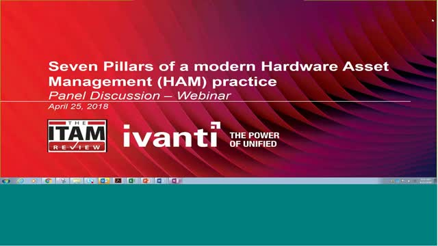 Panel Discussion: Seven Pillars of a Modern Hardware Asset Management Practice