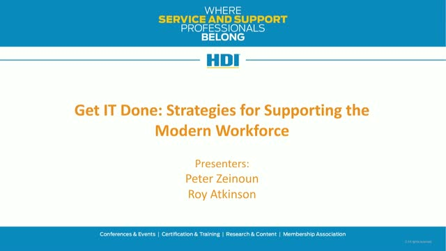 Get IT Done: Strategies for Supporting the Modern Workforce
