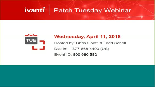 April 2018 Patch Tuesday Analysis