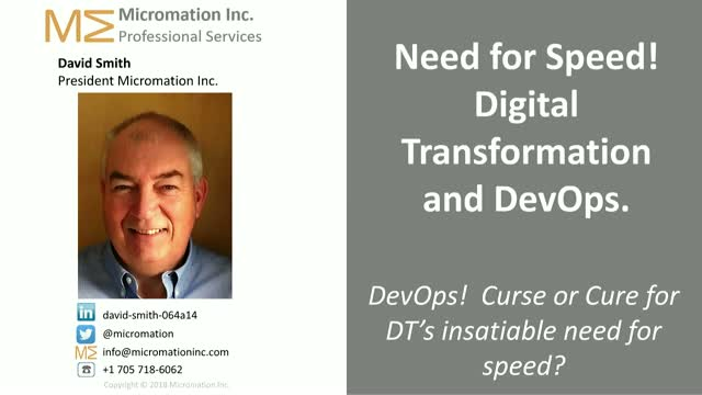 Need for Speed! Digital Transformation and DevOps