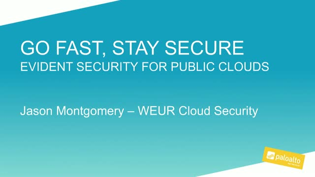 Public Cloud Security Compliance with Palo Alto Networks Evident