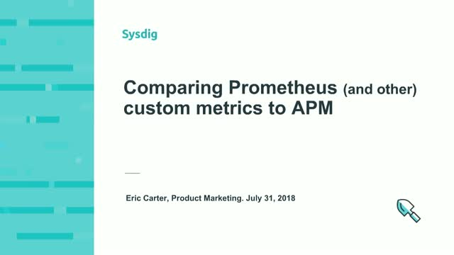 Comparing Prometheus custom metrics to APM