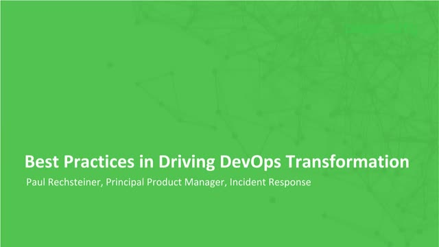 Best Practices in Driving DevOps Transformation
