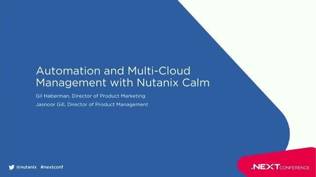Automation and Multi-Cloud Management with Nutanix Calm