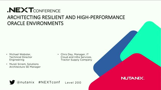 Architecting Resilient and High-performance Oracle Environments