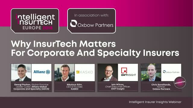 Why InsurTech Matters For Corporate And Specialty Insurers