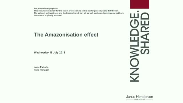The Amazonisation effect and bonds