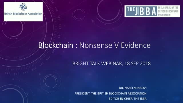 Searching for the Truth in the Blockchain Space: Evidence V Nonsense