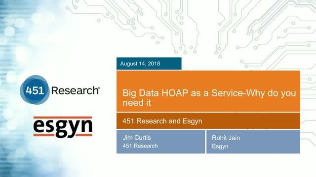 Big Data HOAP as a Service-Why do you need it