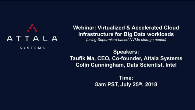 Virtualized & Accelerated Cloud Infrastructure for Big Data workloads