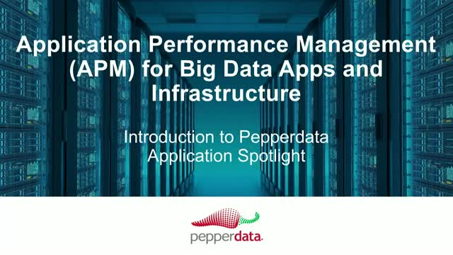 Application Performance Management (APM) for Big Data Apps and Infrastructure