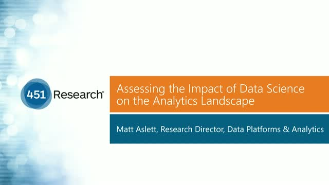 Assessing the impact of data science on the analytics landscape