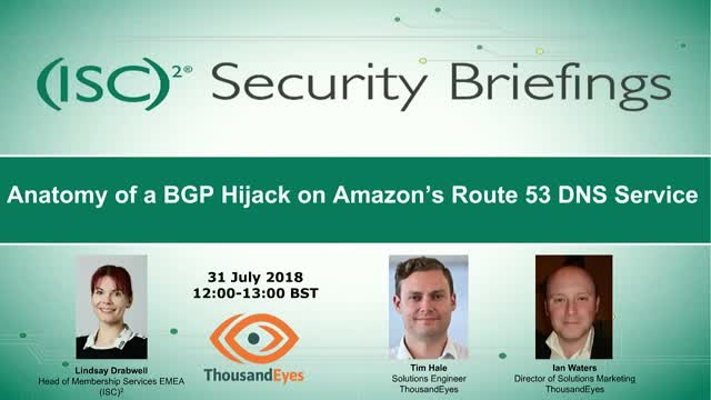 Anatomy of a BGP Hijack on Amazon's Route 53 DNS Service