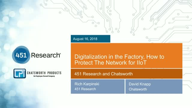 Digitalization in the Factory, How to Protect The Network for IIoT