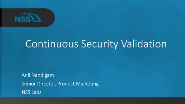 Continuous Security Validation: Know Where You Stand