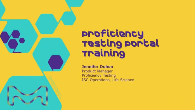 Proficiency Testing Portal Training