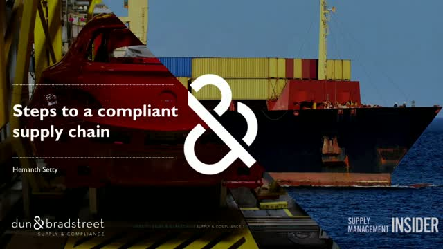 Steps to a compliant supply chain