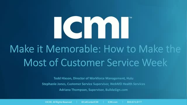 Make it Memorable: How to Make the Most of Customer Service Week