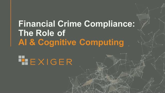 Financial Crime Compliance: the Role of AI & Cognitive Computing